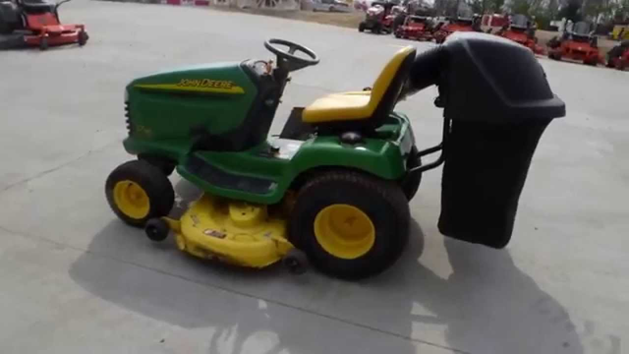 John Deere Lt190 48 Tractor Lawn Mower With Bagger And