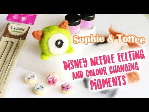Disney Needle Felting & Colour Changing Clay│Sophie & Toffee April Subscription Box