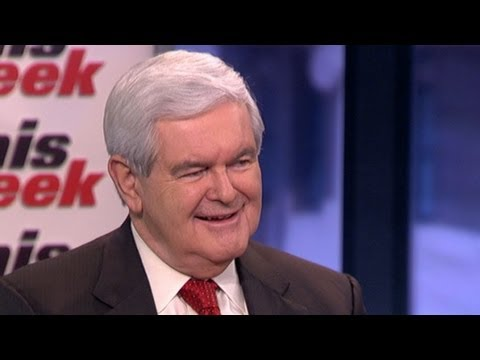 Newt Gingrich 'This Week' Roundtable: Mitt Romney's President Obama Gift Comment 'Nuts'