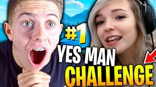 TOP 1 YESMAN CHALLENGE AVEC DEUJNA SUR FORTNITE BATTLE ROYALE !!!
