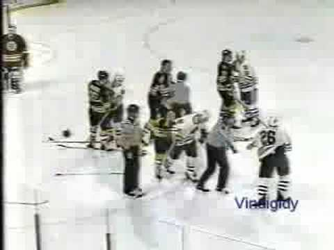 Sutter cheapshots Ray Bourque 89-90 Video