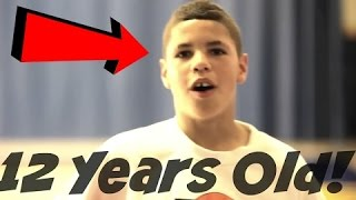 LAMELO BALL 12 YEARS OLD BASKETBALL HIGHLIGHTS : 'HALF COURT SHOTS!'