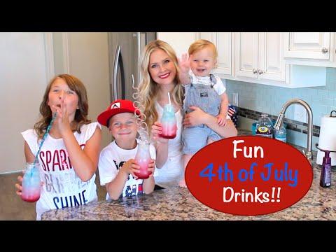 Fun Layered 4th Of July Drinks!!