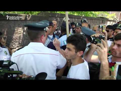 Armenian Protester Scuffles With Lawmaker