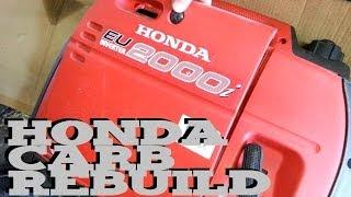 Honda generator eu2000i eu1000i carb rebuild