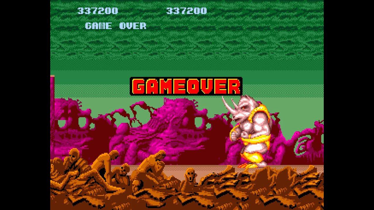 Altered Beast Game Over Game Over Altered Beast