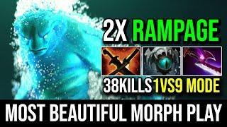 Most Beautiful Morphling Plays Ever - Epic 1Vs9 Transtorm Like a God 38KIlls 2x RAMPAGE 7.20e Dota 2