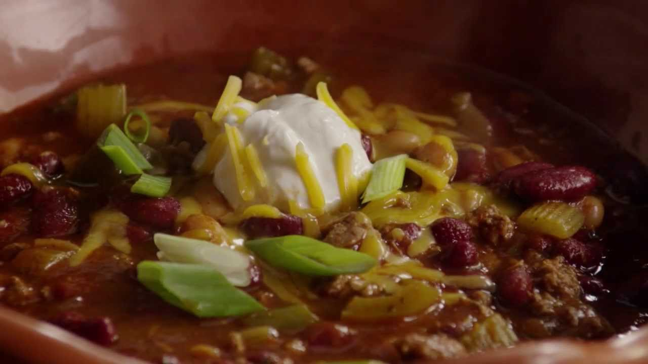 Chili Recipe - How to Make Slow Cooker Chili - YouTube