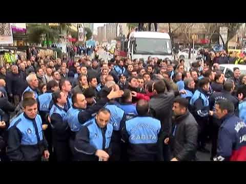 Beşiktaş'ta Zabıtalar Birbirine Girdi, Başkan Arada Kaldı