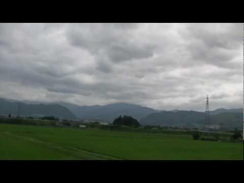 山形新幹線つばさ号 【側面展望 13】 羽前中山⇒かみのやま温泉