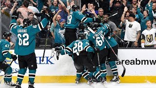 Sharks storm back with four goals on same power play, win in OT to claim epic Game 7
