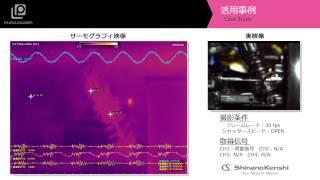 サーモグラフィ+データロガー 「サスペンションの発熱」