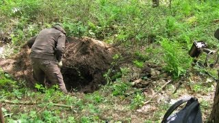WWII Battlefield Relic Hunting on the Western Front - German Equipment Dumphole