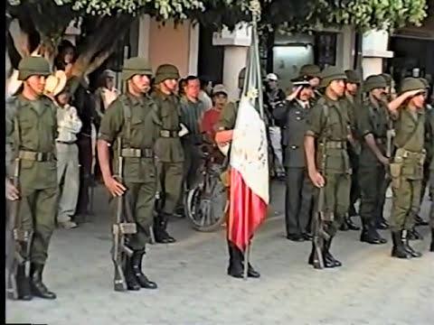 INCINERACION DE BANDERAS.  24 de Febrero de 1999. GON-PAR MUSIC. IXTLAN DEL RIO, NAY. MEX.