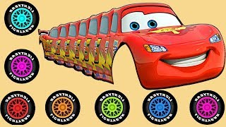 Wrong Colors & Wheels Lightning Mcqueen Limousine Disney Cars  ♥ DauTay&Zui ♥ Finger Family Songs
