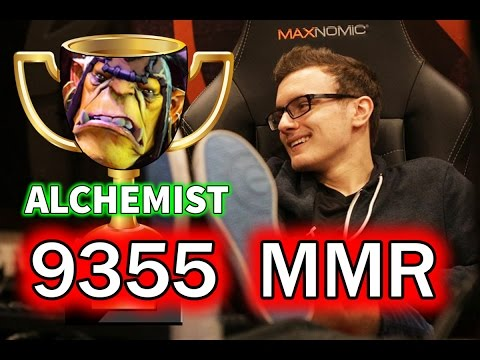 MIRACLE - Alchemist 9355 MMR (NEW WORLD RECORD) - Full Gameplay!