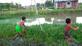 Best Fishing Video | Kids Fishing By Daily Village Life (Part-05)