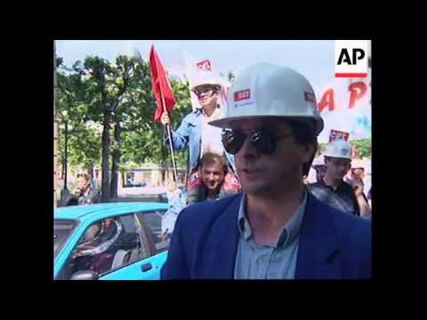 FRANCE: PARIS: TELECOM WORKERS PROTEST