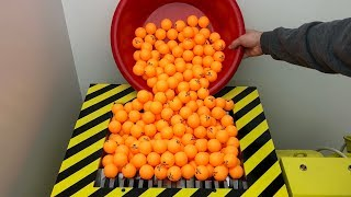 EXPERIMENT Shredding 1000 Ping Pong Balls