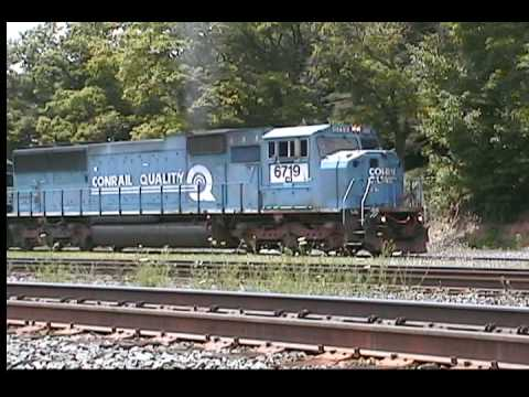 3 ex-conrail sd60i locomotives in Cresson, PA