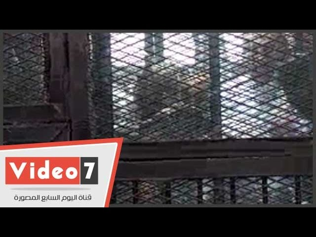 """بالفيديو.. متهمو أحداث مجلس الشورى يرسلون """"القلوب """"من داخل القفص لصديقاتهم"""