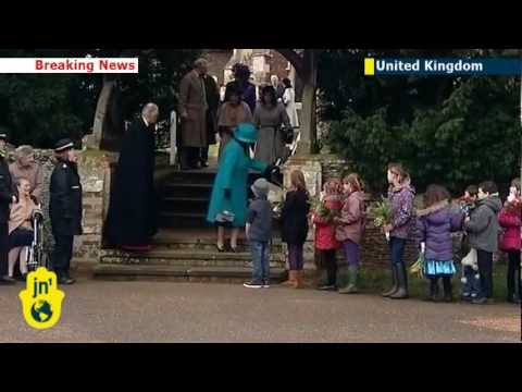 Queen Elizabeth attends Christmas Day church service in Sandringham