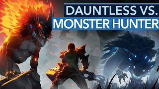 Was unterscheidet Dauntless von Monster Hunter: World?