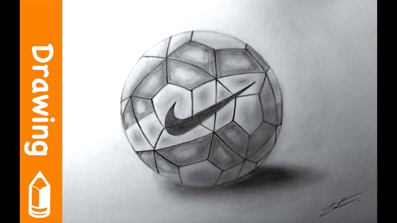 Easy Football Drawing Drawing Nike Football