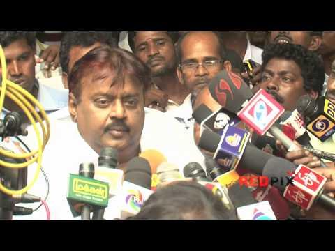 Actor Vijaykanth pays Homage - Veteran actress Manjula Vijayakumar, died. [REDPIX]