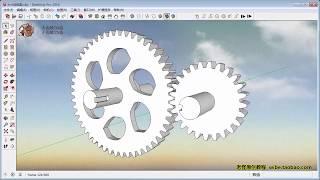 E35 圆路径动画例四(齿轮与蜗轮)