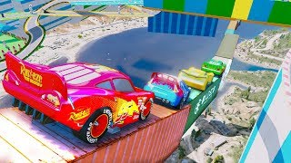 Cars 3 Jackson Storm Color Learning With McQueen Cruz Ramirez Cars 3 Miss Fritter Mack Truck Mater