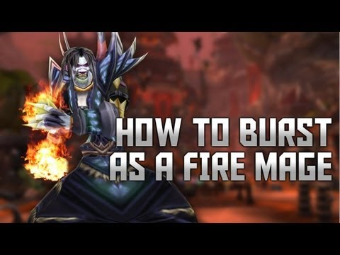 Fire Mage Advanced Burst Rotation Guide /w one shot macro MoP 5.2