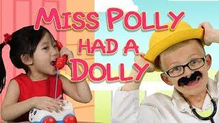 Miss Polly Had a Dolly | Nursery Rhymes | Educational | Pocket Preschool