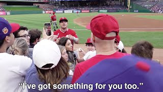 Catching up with Mike Trout at Globe Life Park