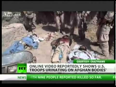 LEAKED VIDEO US Marines mocking & urinating on Afghan bodies'