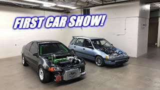 Wago and The Grinch Go To Their First Car Show!