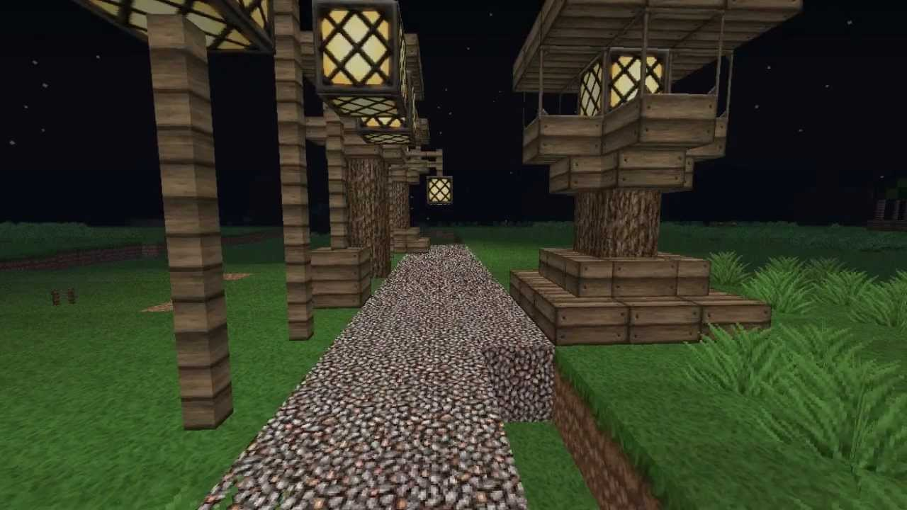 Minecraft Medieval Street Lamps Tutorial Youtube