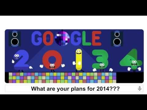 A Happy New Year 2014 Google Doodle