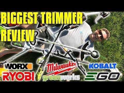 String Trimmer Review - Ego vs Milwaukee vs Worx vs Ryobi