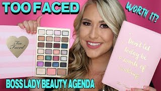 TOO FACED BOSS LADY BEAUTY AGENDA - WHATS NEW IN MAKEUP HOLIDAY 2017