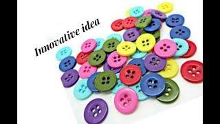 Innovative idea with buttons   jewellery tutorials