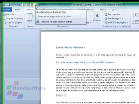 Curso de Word 2010 - Personalizar Barra de herramientas (Video 8)