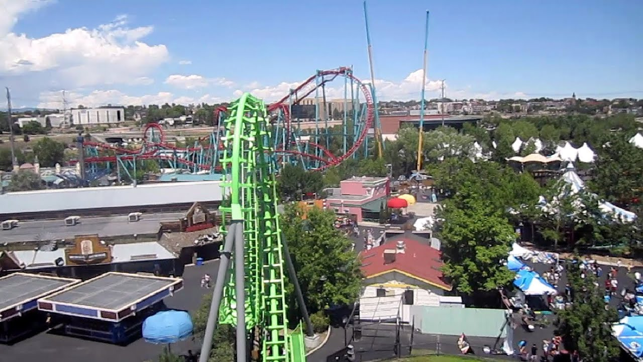 Sidewinder Front Seat On Ride Hd Pov Elitch Gardens Youtube