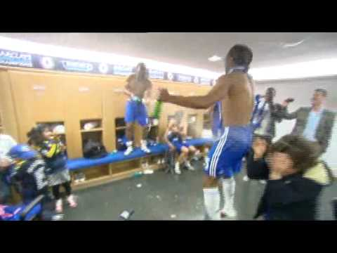 Didier Drogba Dressing Room Celebrations Video