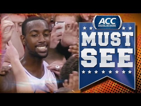 Led By Will Privette, NC State Fans Rush Court After Beating #1 Duke