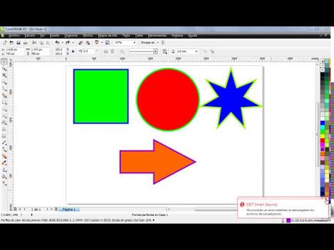 Curso de CorelDraw X5 - Dibujar figuras simples - Part 2