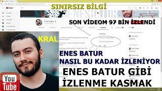 ENES BATUR PEWDİEPİE  KULLANDIĞI İZLENME ARTTIRMA YÖNTEMİ!