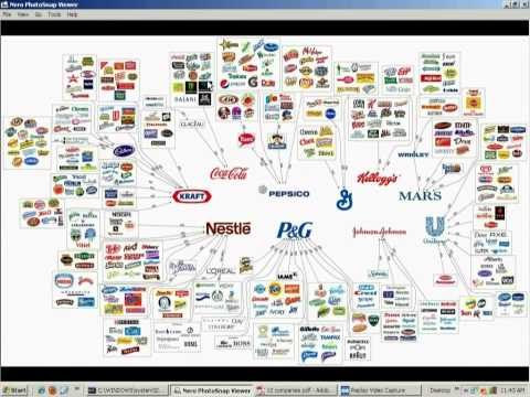 10 companies sell 90% of the Products Americans Buy