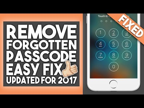 How To Fix Forgotten Passcode - iPhone. iPad. iPod Touch - iOS 10 - 2017 - Easy and Free