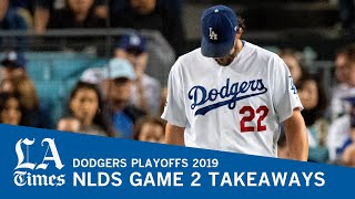Dodgers, with a bad Kershaw outing, lose NLDS Game 2